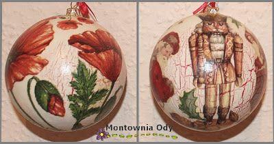 Montownia Ody Coraz Blizej Swieta Christmas Bulbs Christmas Ornaments Decoupage