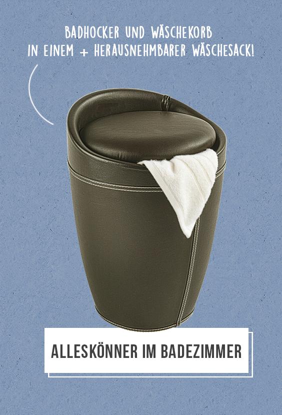 Kleine Hilfe für mehr Ordnung: Der Wäschekorb versteckt als ...
