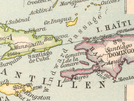 Details From Antique Usa United States And Mexico Map 1897