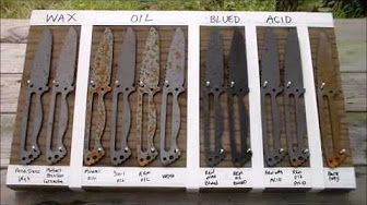 remove rust after ferric chloride etching - YouTube | Blade