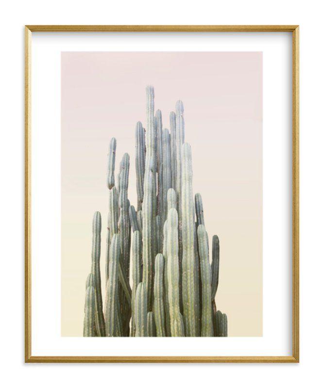 Photo of Summer Yellow Cactus Art Print