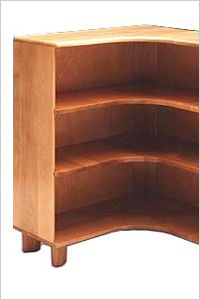Beautiful See Our Heywood Wakefield Mid Century Modern Corner Bookcase, SKU