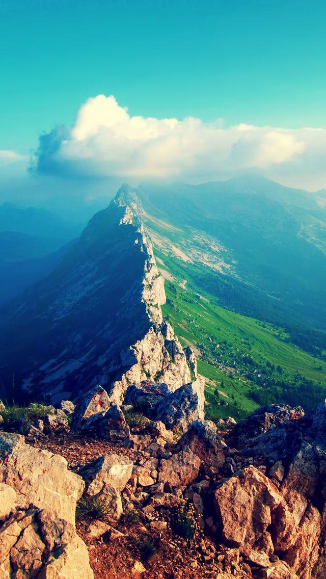 Amazing Mountain View Iphone 5 5c 5s Wallpaper Nature Iphone Wallpaper Scenery Wallpaper Mountain Wallpaper