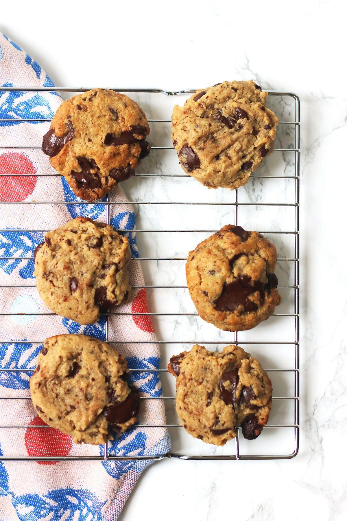 Vegan Chocolate Chip Cookies With Tahini And Sea Salt
