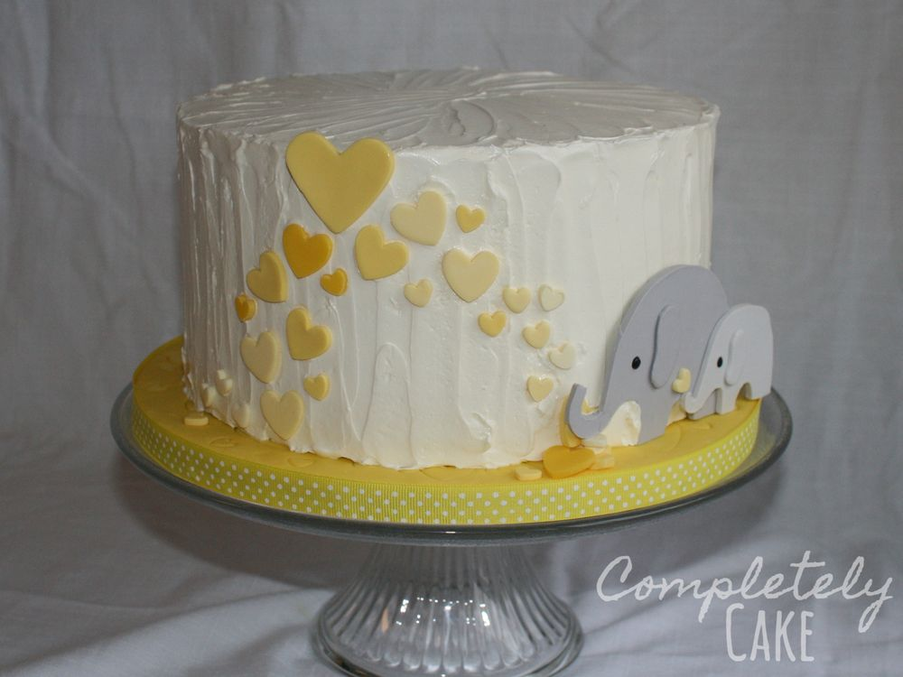 Yellow And Gray Elephant Baby Shower Cake Rebekahu0027s Baby Shower, Baby Shower  Invitation