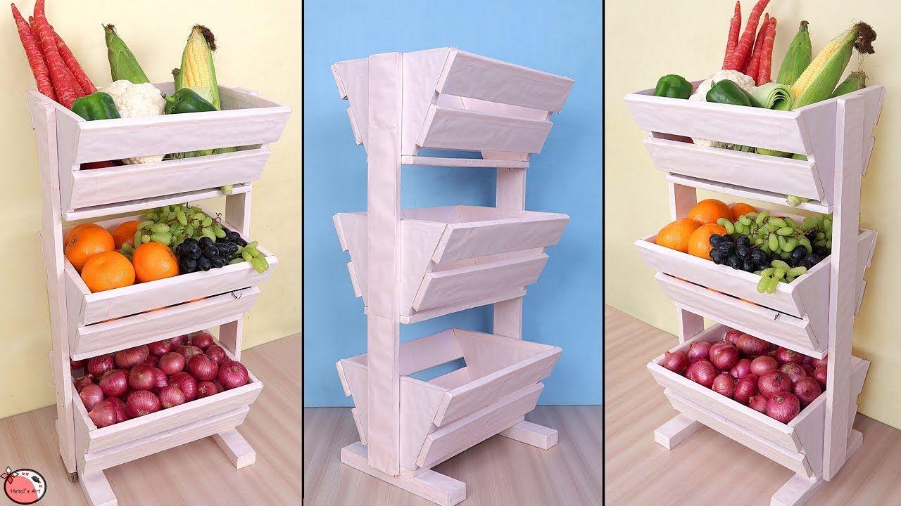 Diy kitchen organizer fruit and vegetable storage idea