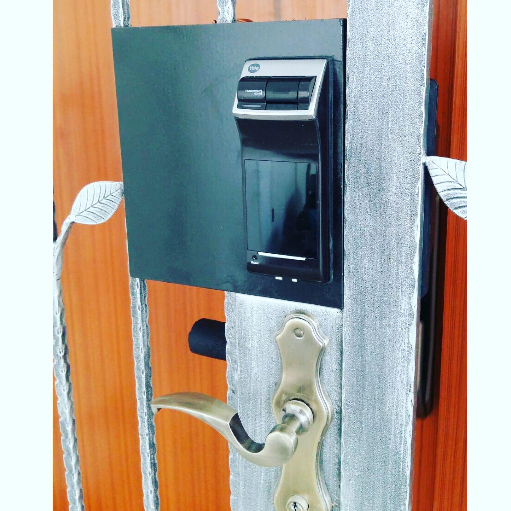 pm lock control doo htm door sale i digital doors gate fingerprint with end grill ydr yale