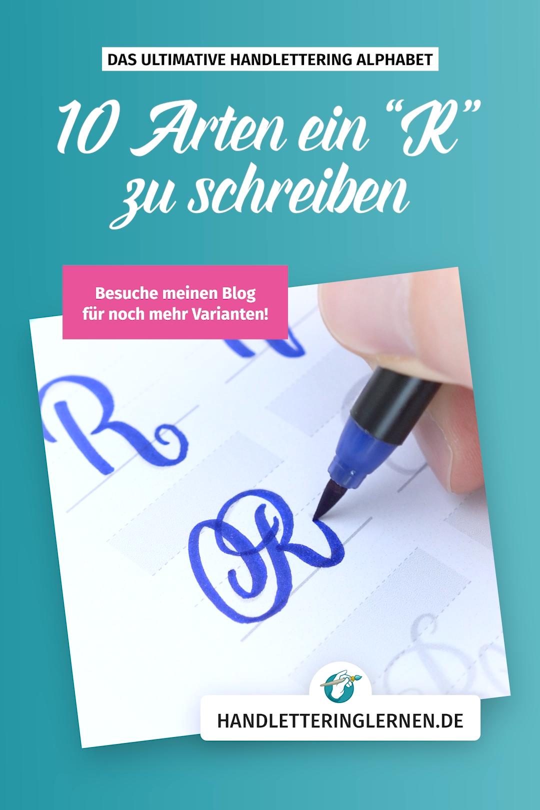 "Photo of Handlettering ""R"" – 10 Varianten"