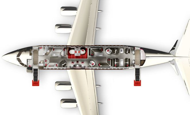 Private Jet Interior Floor Plan Bae Shows Off New Avro Business