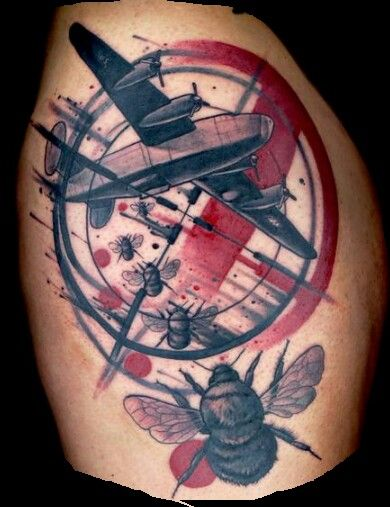 Trash polka by Craig Foster. | Tattoos | Trash polka tattoo, Tattoo ...