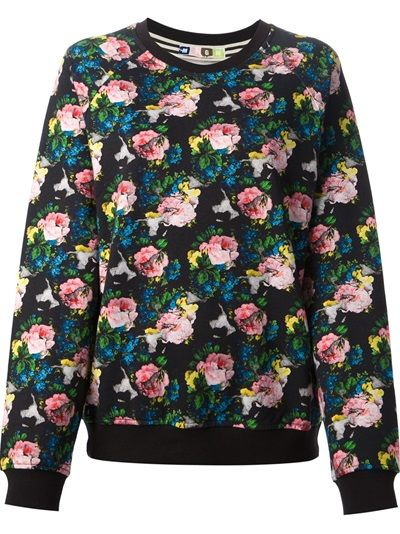 MSGM - floral print sweatshirt