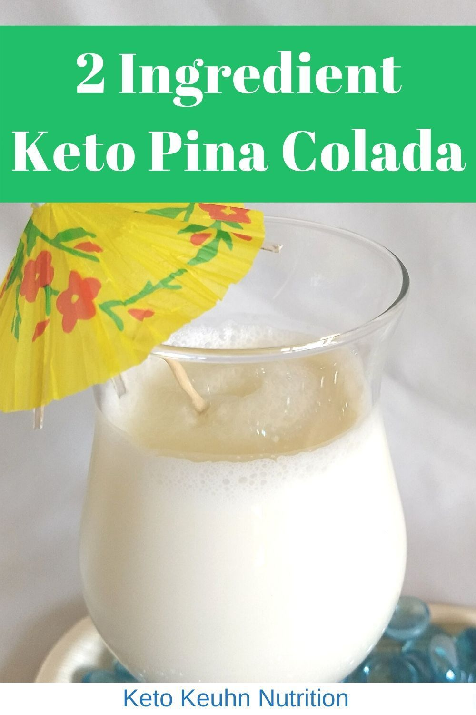 Keto Pina Colada Low Carb Alcoholic Drinks Pina Colada Recipe Coconut Milk Low Carb Drinks