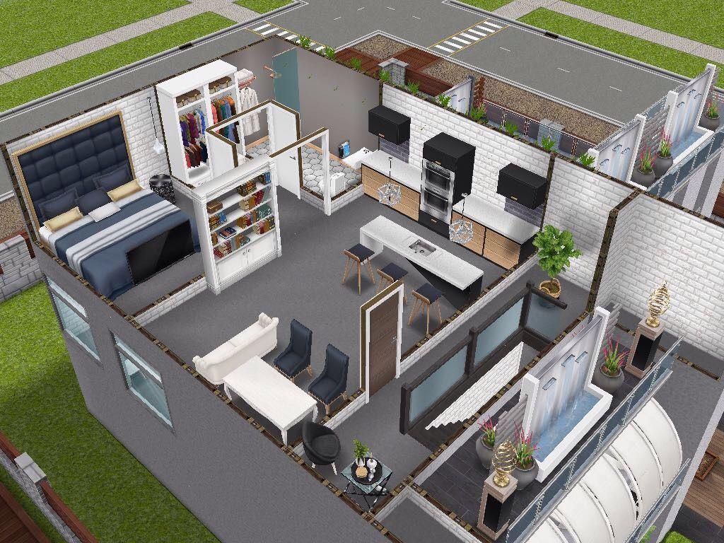 House 20 Salon - inspired by Joys Creative Finger Level 20 #sims