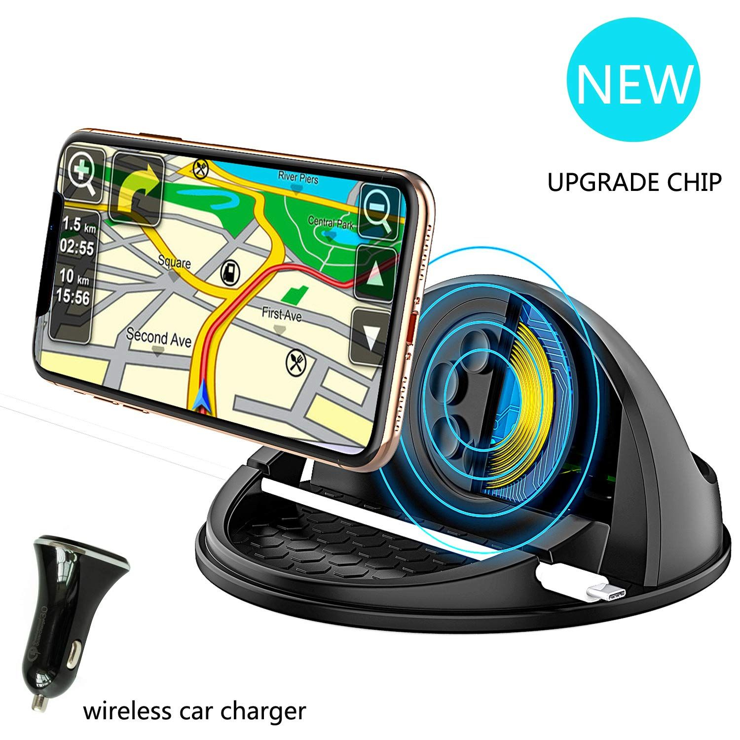 Wireless Car Charger Mount Qi Certified Car Wireless Charging