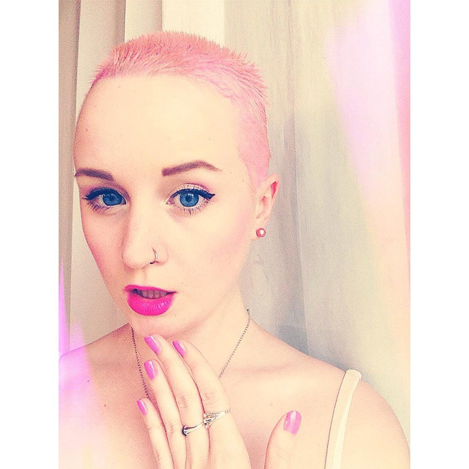 best haircuts for balding my new pink buzzcut i m in i look like an 2156