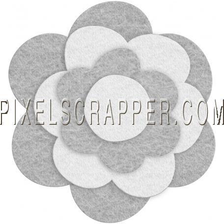 Felt Flower Template - Set 10b by Marisa Lerin   Pixel Scrapper digital scrapbooking #feltflowertemplate Felt Flower Template - Set 10b by Marisa Lerin   Pixel Scrapper digital scrapbooking #feltflowertemplate