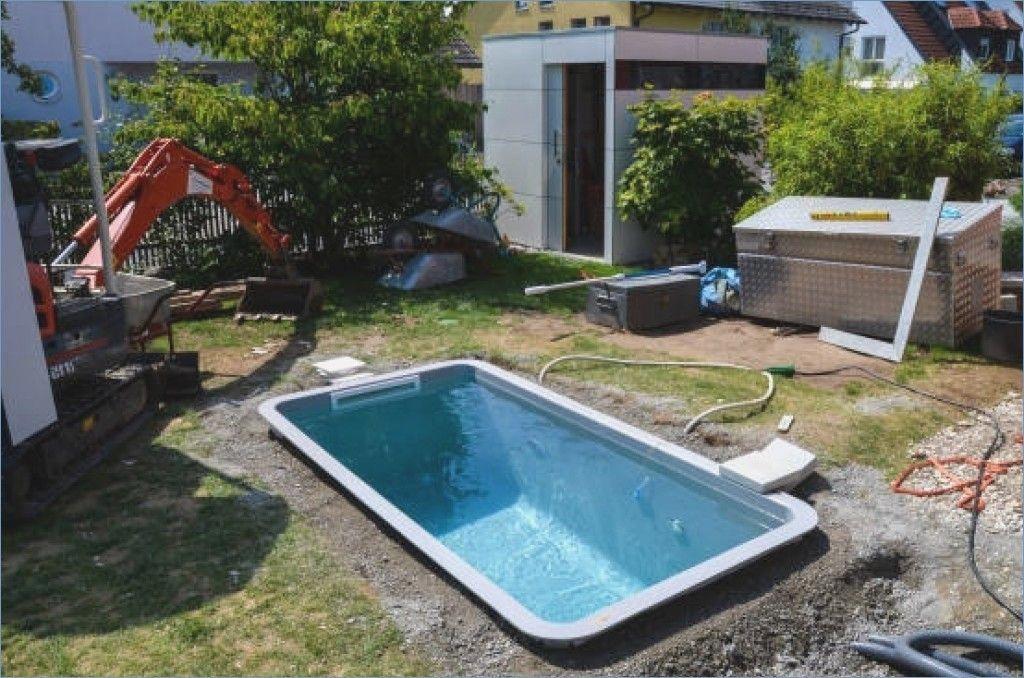 Small pool in the garden selfbuild build garden small