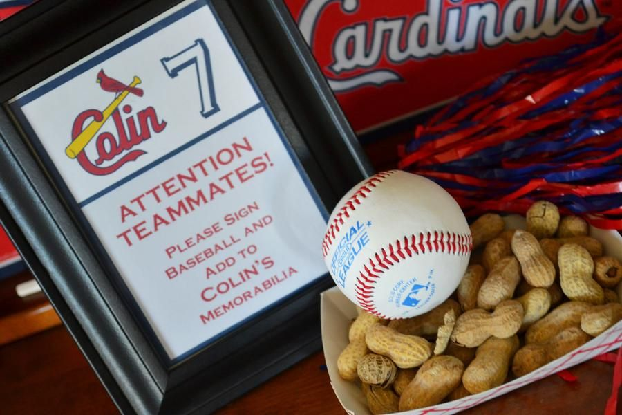 St Louis Cardinal Birthday Party