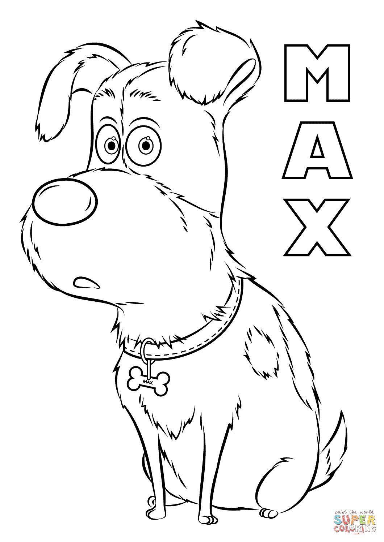 Secret Life Of Pets Coloring Pages 9 Jpg 1060 1500 Animal Coloring Pages Dog Coloring Page Coloring Pages For Kids