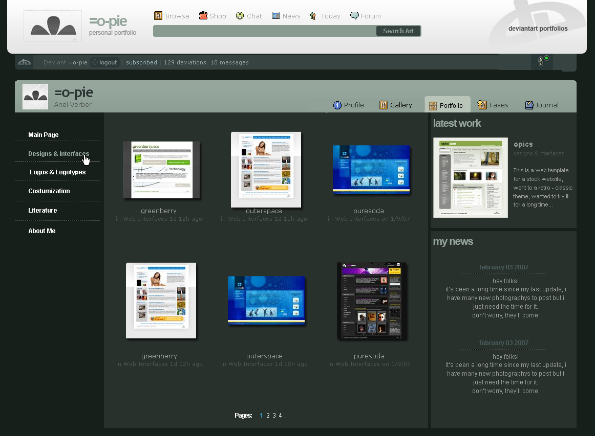 Portfolio page by webdesigner1921 on DeviantArt (med bilder)