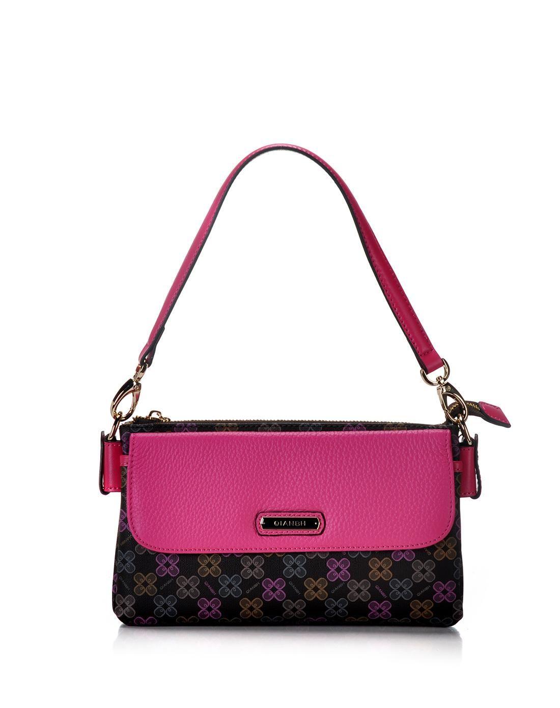 AdoreWe  VIPme (VIPSHOP Global) Accessories - QIANBH Coffee Brown and Pink  Floral Pattern Long Handbag - AdoreWe.com 4ef8c8f367707