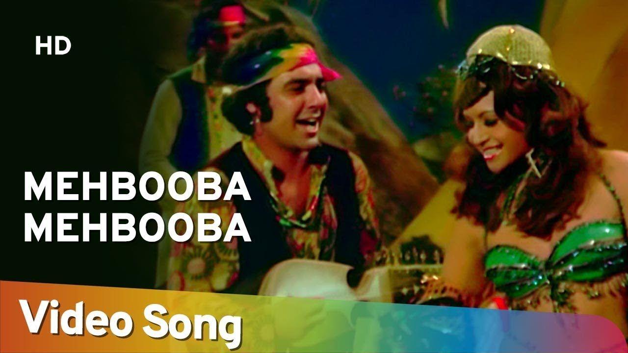 Mehbooba Mehbooba Sholay 1975 Helen Amitabh Bachchan Bollywood Songs Hit Songs Bollywood Dance