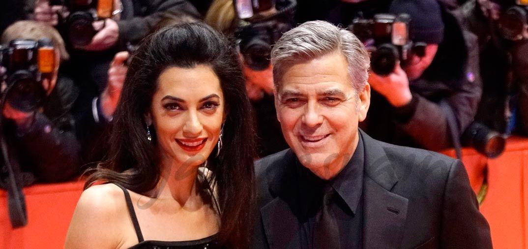 George Clooney y Amal Alamuddin en el Festival Internacional de Cine de Berlín