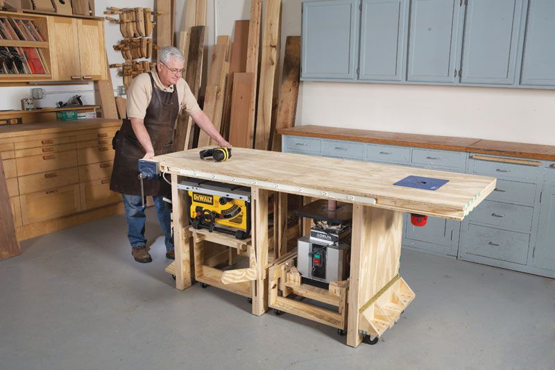 Miraculous Power Tool Workbench In Action In 2019 Adjustable Height Gmtry Best Dining Table And Chair Ideas Images Gmtryco