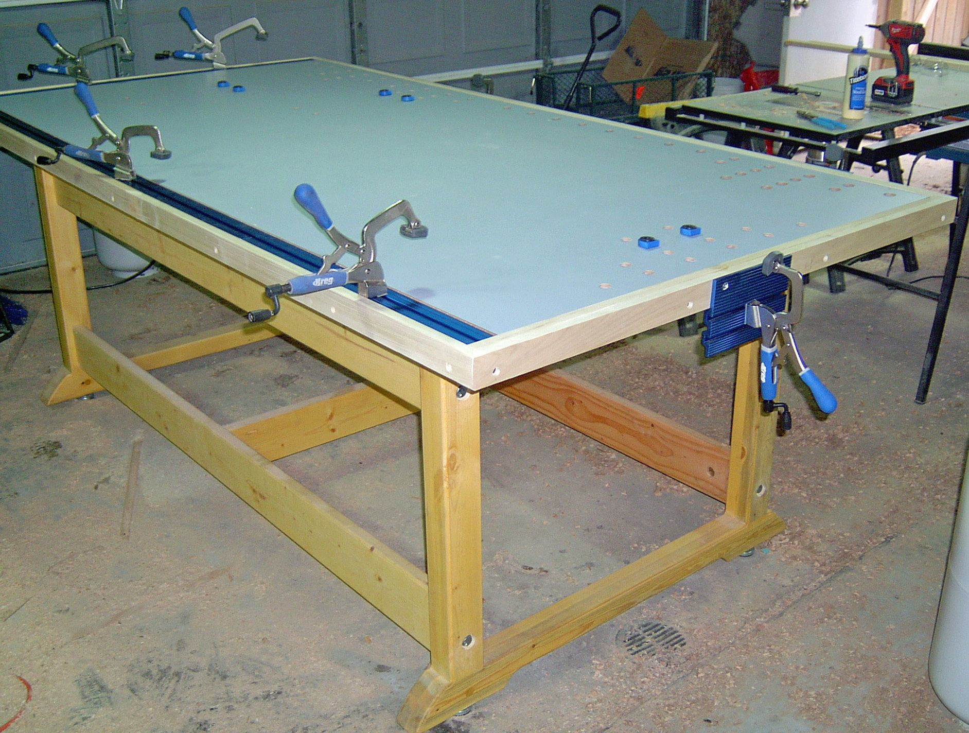 Assembly Table With Kreg Clamps And Track Like The Side