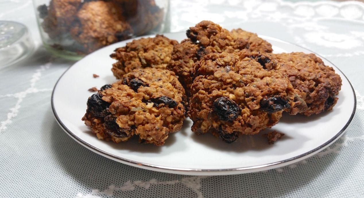 Havermout rozijnen koekjes