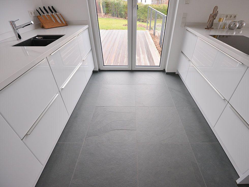 Bodenfliesen Küche Grau
