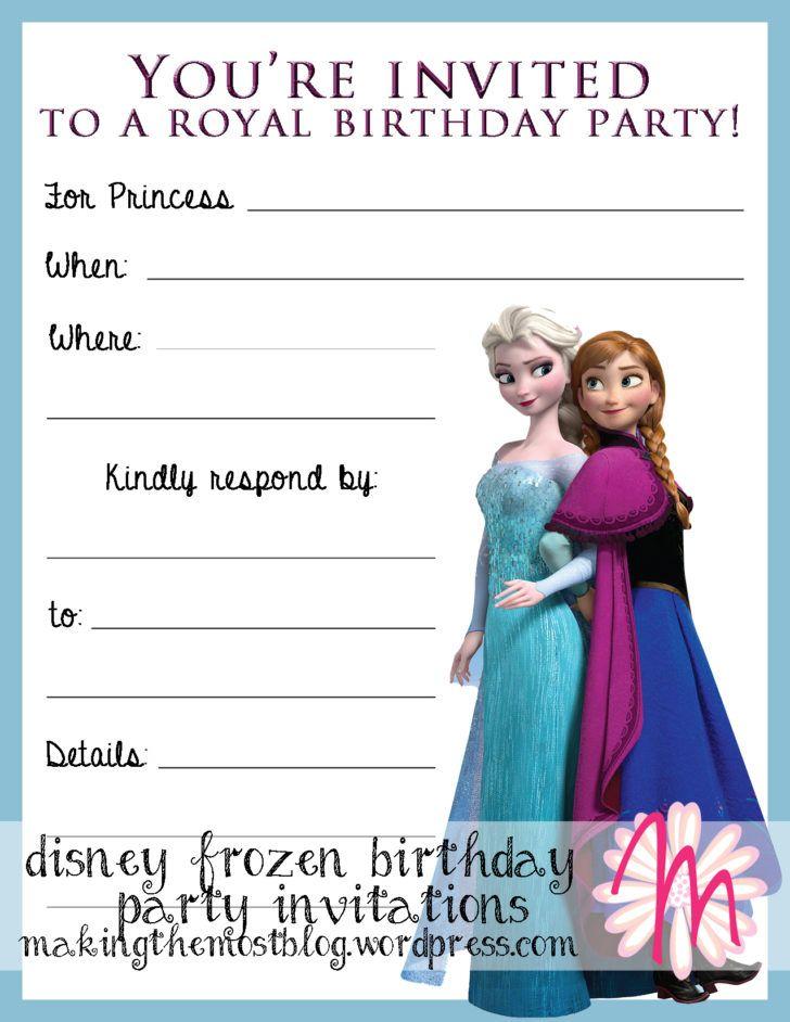 Birthday lovely disney frozen birthday party invitation template birthday lovely disney frozen birthday party invitation template design blank birthday invitation filmwisefo