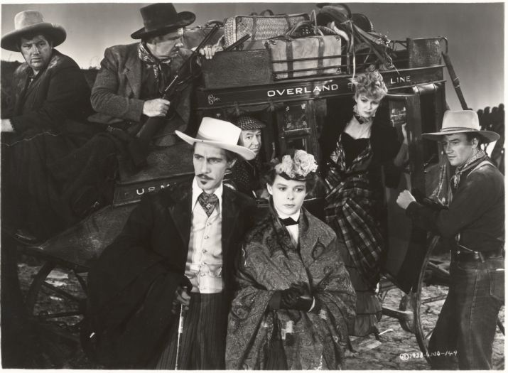 Stagecoach, 1939. By John Ford with John Wayne, Claire Trevor, Thomas Mitchell, John Carradine, Andy Devine and George Bancroft.