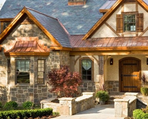 Home Remodeling Improvement I Love Metal Roofing In Shake Or Spanish Tile Style Roofs Exterior House Colors House Exterior Rustic Exterior
