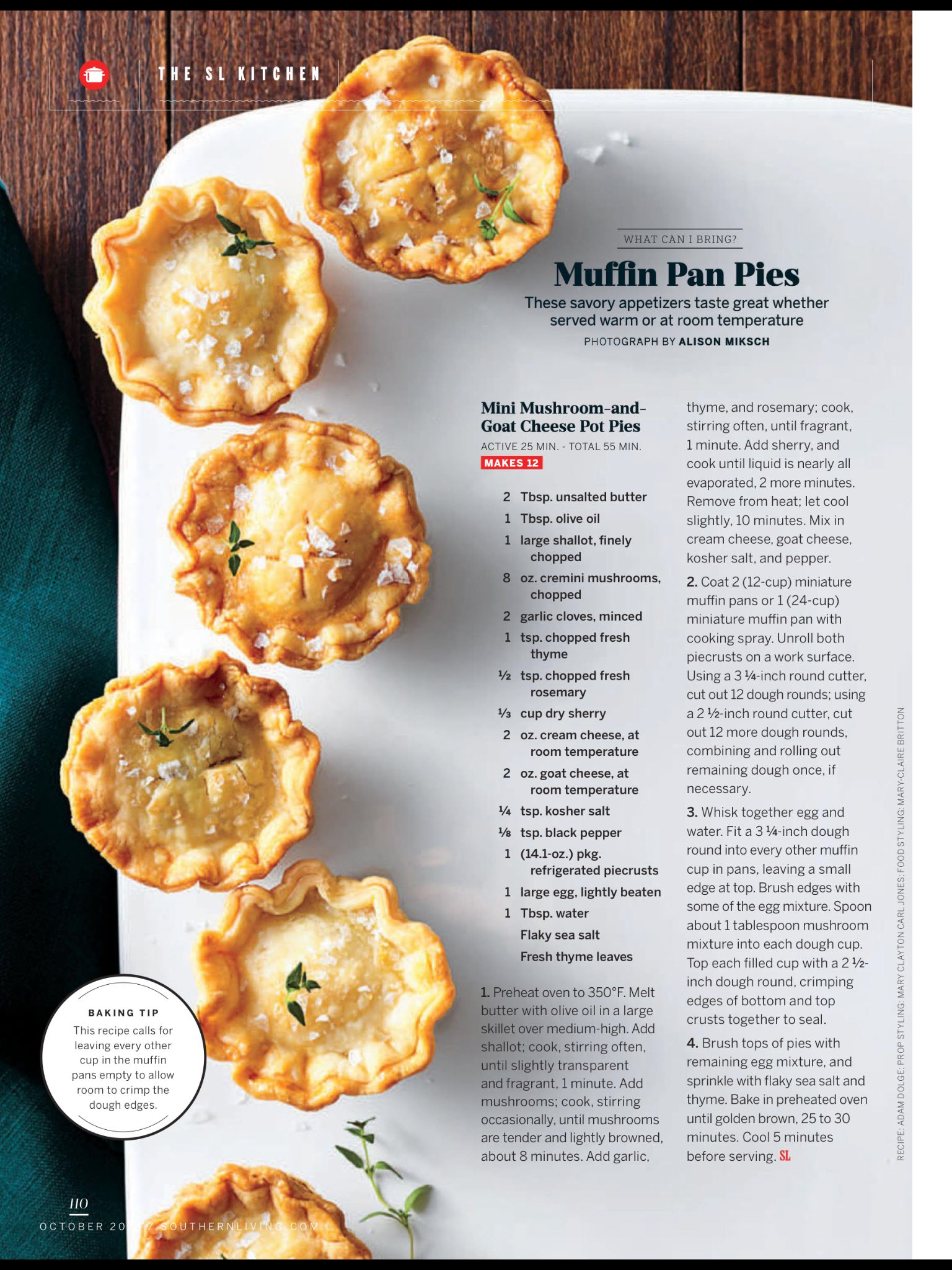 Muffin Pan Pies From Southern Living October 2018 Read It On The