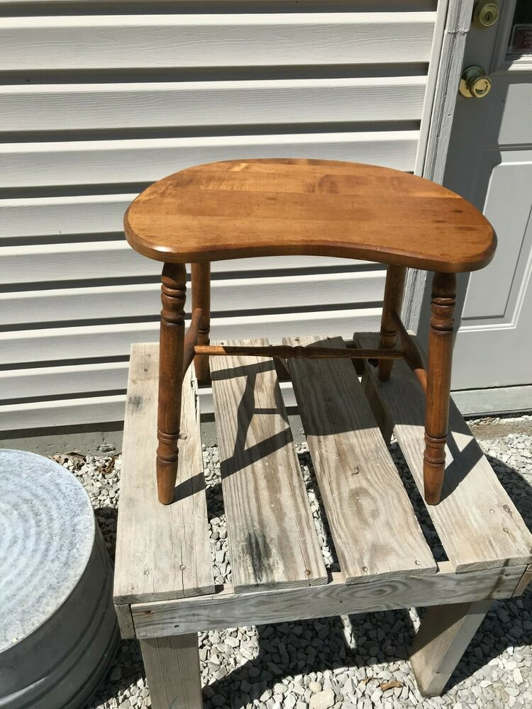 Amazing Vintage Union City Chair Company Half Moon Saddle Stool Pabps2019 Chair Design Images Pabps2019Com