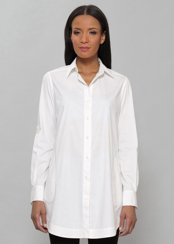 Images of White Long Shirt - Reikian