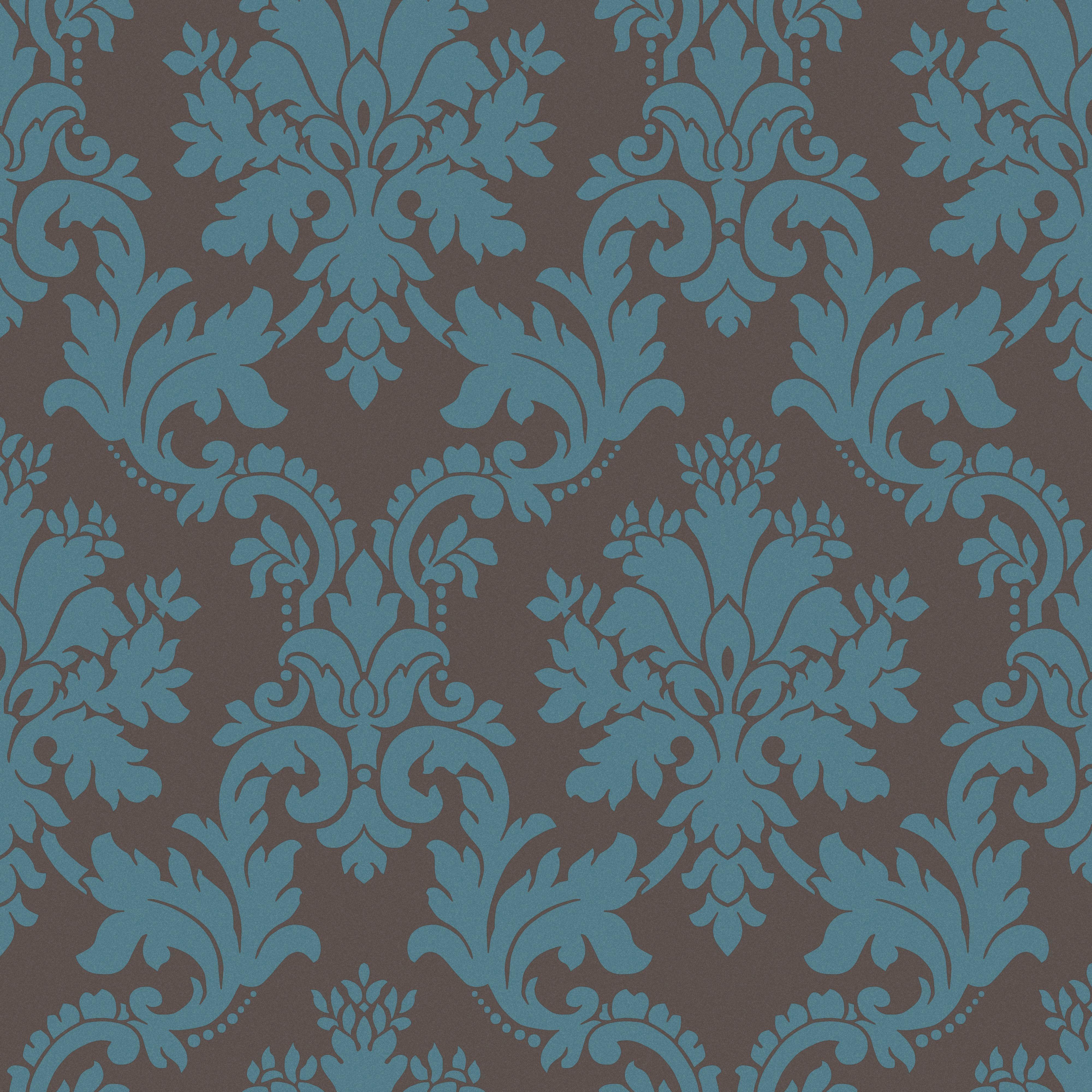 Arthouse Opera Byron Brown & Teal Wallpaper Departments