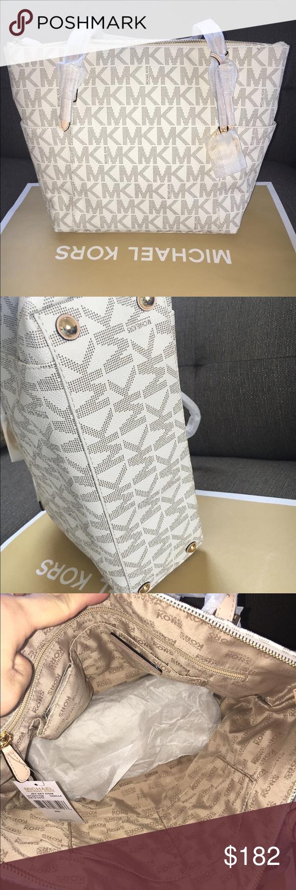 🌸MK tote vanilla signature Authenic brand new. Vanilla color. Michael Kors Bags Totes