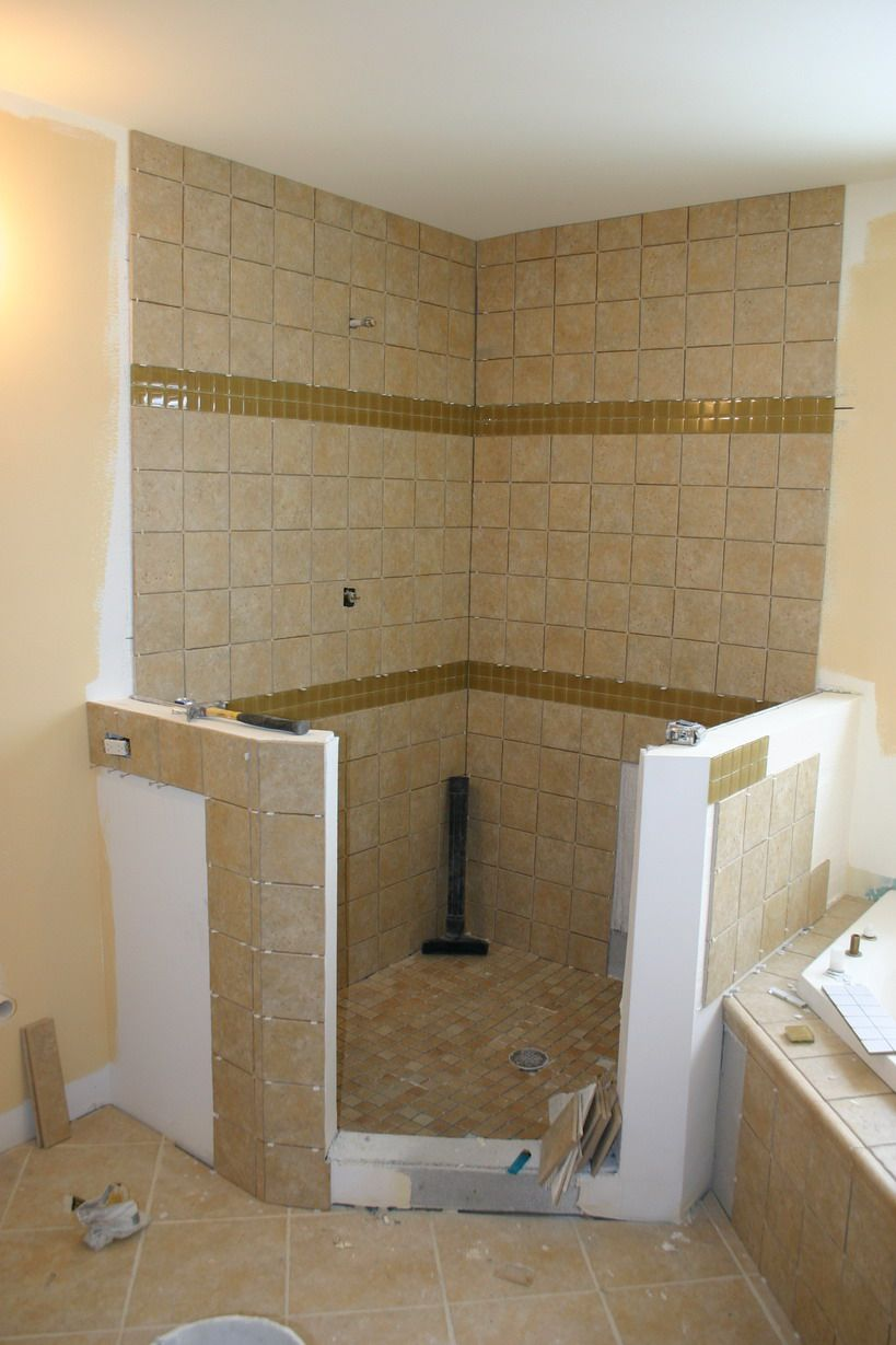 Simple stripes bathroom inspirations pinterest for Simple bathroom designs without tub