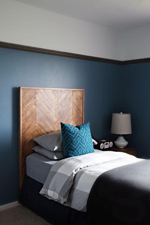 great art deco master bedroom %E2%80%93 by ace   IHeart Organizing: DIY Herringbone Pattern Headboard ...