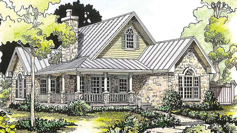 Plan 46000HC: Hill Country Clic | Porch, House and Smallest house on one story duplexes, one story house designs, one story villa homes, one story cottage floor plans, one story ranch house, basic cottage houses, one story decks, garage cottage houses, one story colonial house,