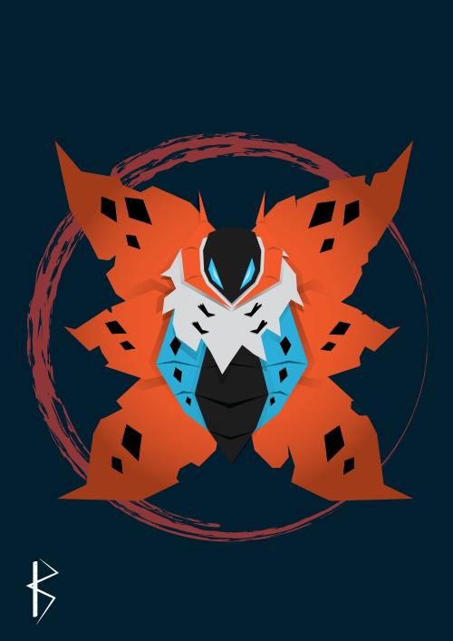 "kthedragonknightdraws: "" Volcarona- Gen5 Pokemon """