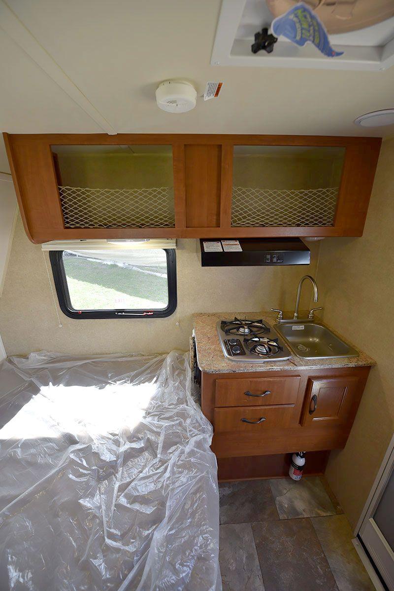 2016 Rayzr FB Review Camper kitchen, Truck camper, Camper