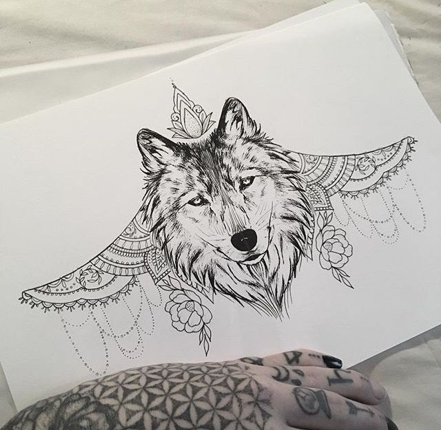 Lou Hopper Is Stunning Beautiful Stunning Tattoos: Wolf Under Bust Tattoo By Medusa Lou Tattoo Artist