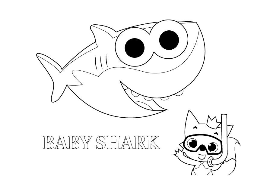 related image  shark coloring pages baby coloring pages
