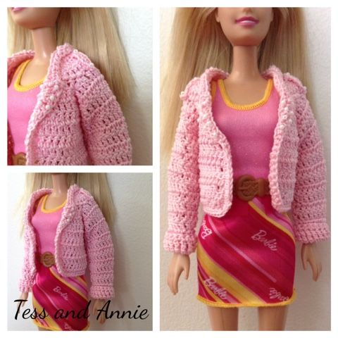 Tess and annie free crochet pattern barbie biker jacket crochet tess and annie free crochet pattern barbie biker jacket dt1010fo