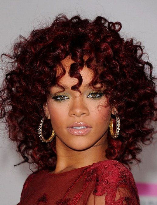 Hair Color Dark Burgundy Red Hair Color For Medium Curly Hair With