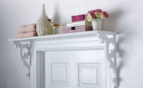 Ordinaire A Shelf Over The Door Is A Great Space Saver. This Particular Shelf Is A  DIY Project. The Instructions Can Be Found At Homedepot