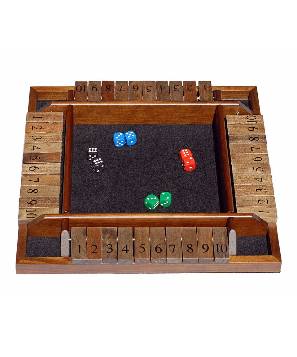 look at this #zulilyfind! four-player shut the boxwood